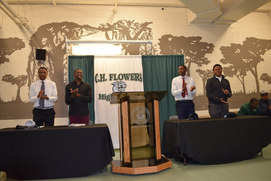CHARLES H. FLOWERS HONORS BASEBALL COMMITS ON SPRING SIGNING DAY