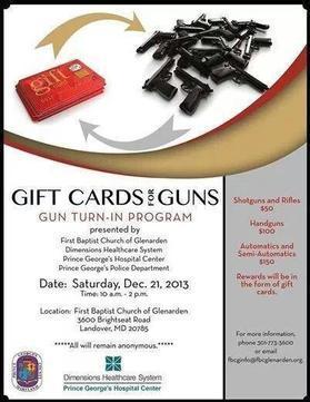 Guns for Gift Cards