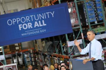 President Obama Goes Shopping in Glenarden for Minimum Wage Hike Support